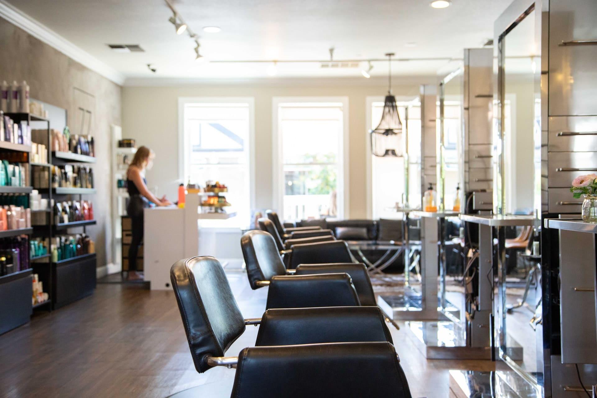 Friseursalon-Einrichtung Beispiel