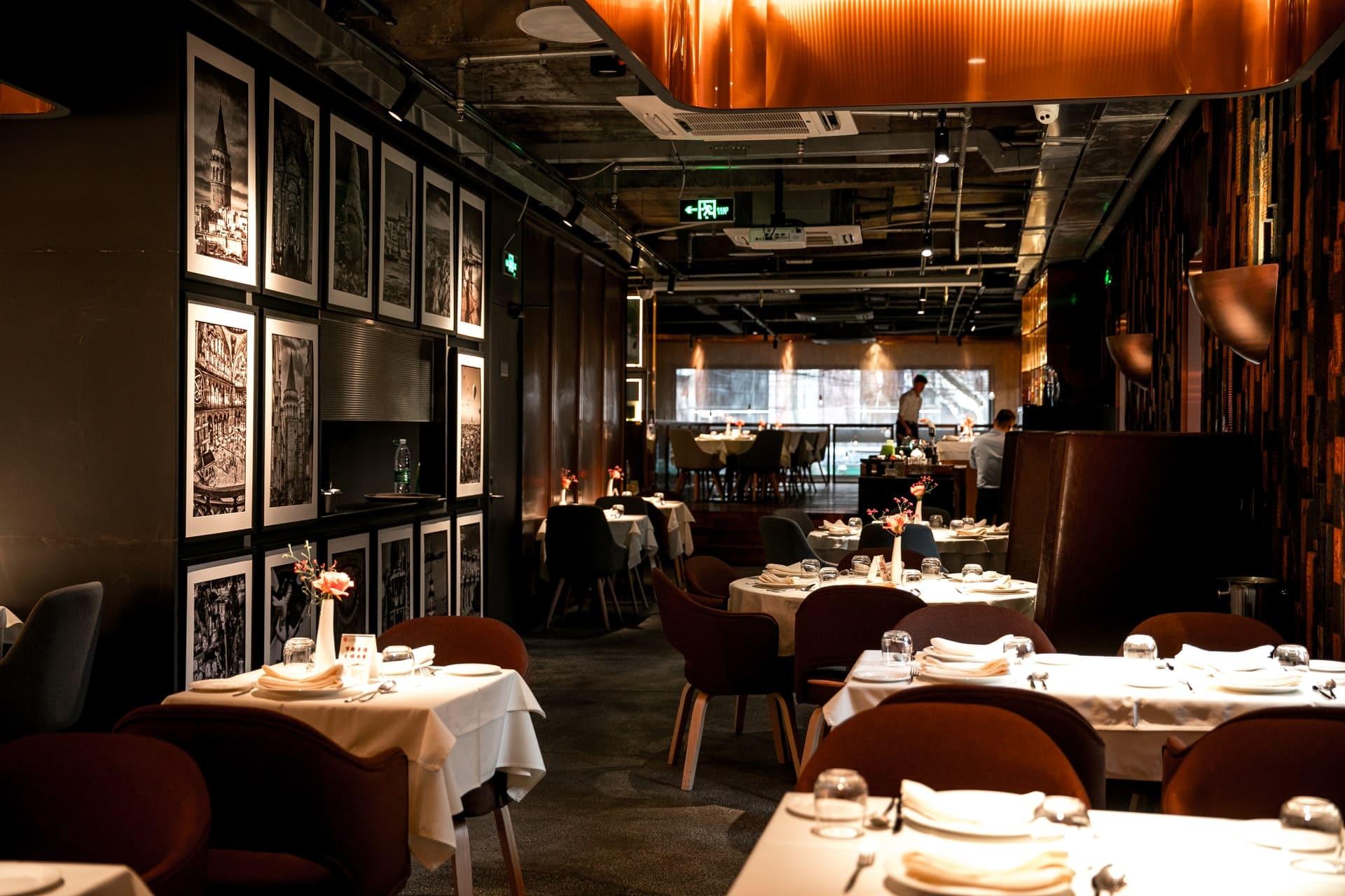 Moderne Gastronomie-Einrichtung