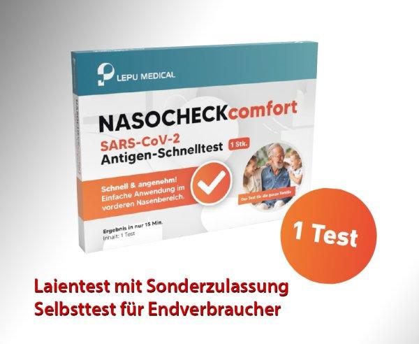 Lepu - Antigen-Nasenbohrertest (Laienzulassung) (einzeln)