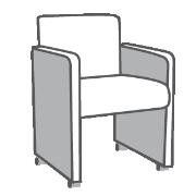 Sessel mit Rollen